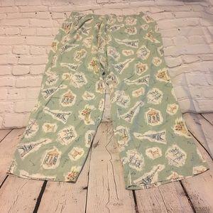 Paris Print Pajama Pants